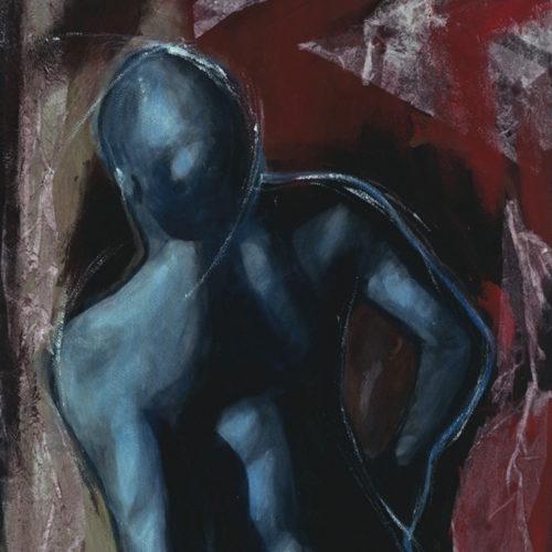 Cadaquès II, Acrylique sur papier, Sylvio Boudreau,1998