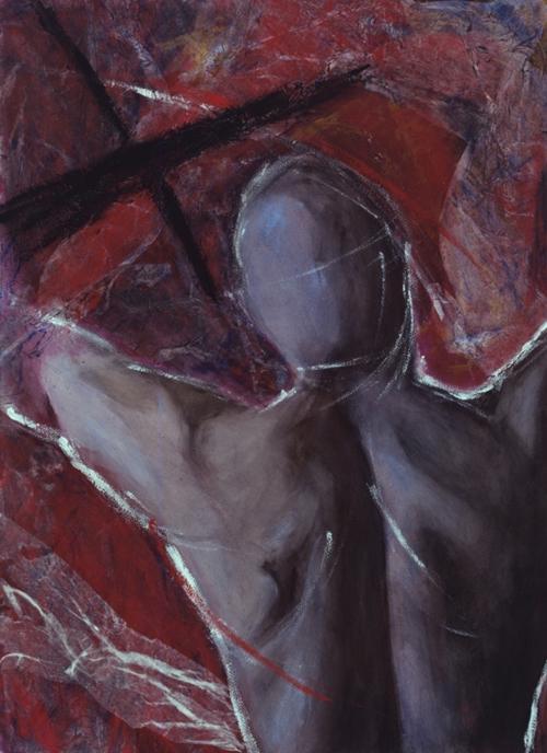 Cadaquès III, Acrylique sur papier, Sylvio Boudreau, 1998